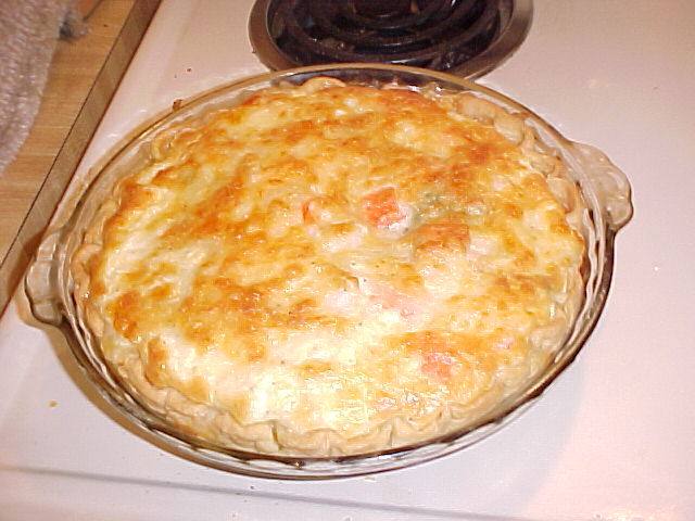 My Crabmeat & Spinach Quiche