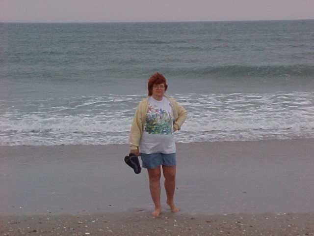 First morning on the beach, Wrightsville Beach, NC