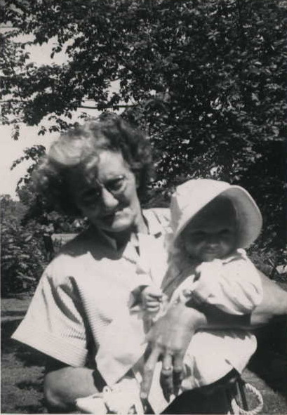 Grandma Langford and me, 1952